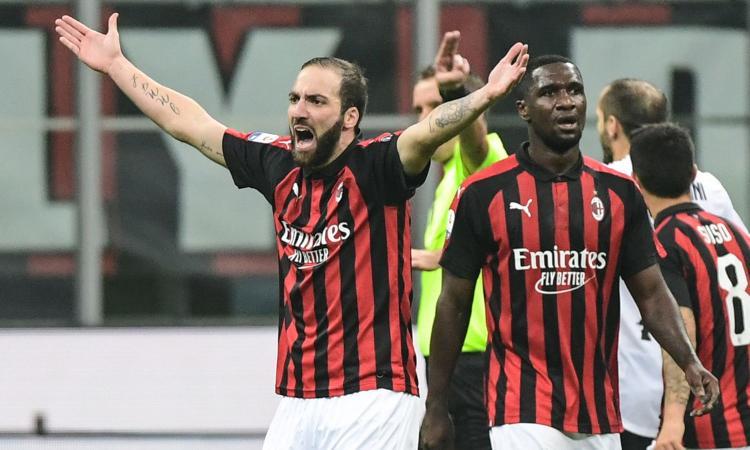 Milan, lite Kessie-Higuain per il rigore poi sbagliato dal Pipita