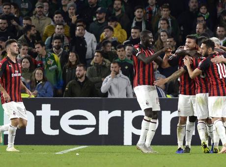 Il Milan non brilla, col Betis è 1-1: decisiva la sfida con l'Olympiacos