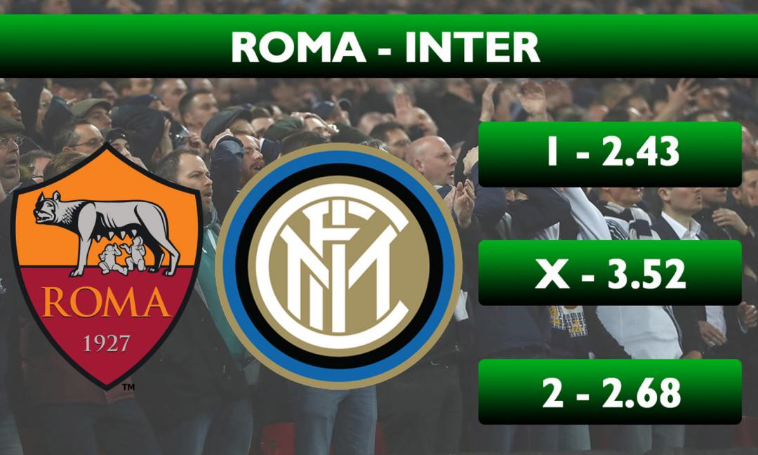 Roma-Inter, sfida tra deluse senza gladiatori