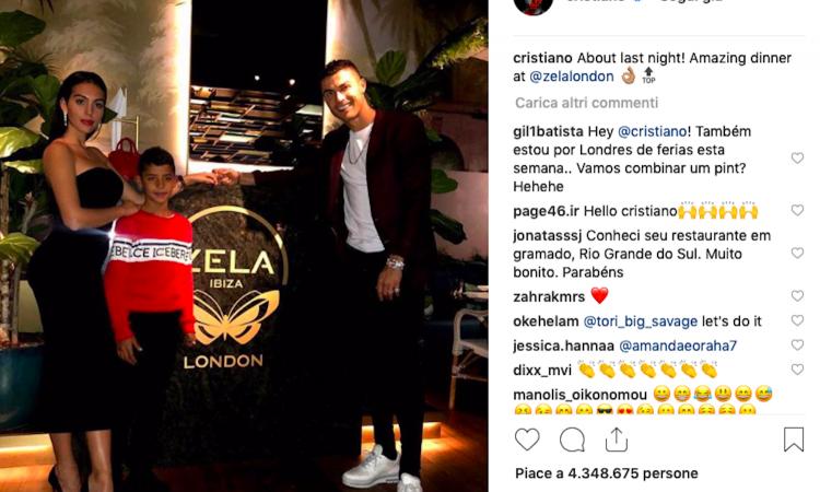 Ronaldo, che spese a Londra: 31mila euro per due bottiglie di vino! VIDEO