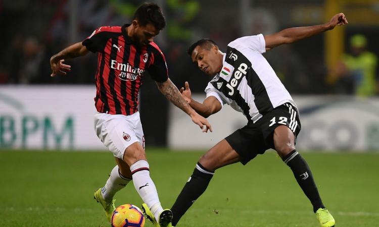 Milan-Juve, i duelli: Alex Sandro e Suso fanno vincere il timoroso Allegri