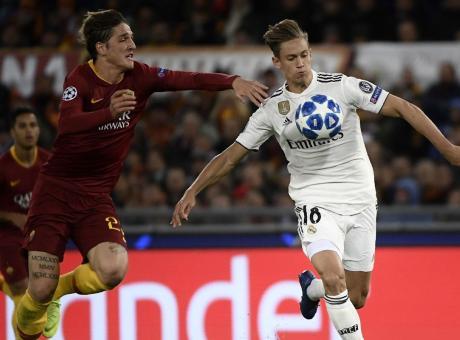 Roma-Real, i duelli: Solari annienta Di Francesco, ma Zaniolo batte Modric