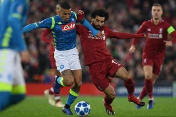 Allan Napoli Salah Liverpool scontro