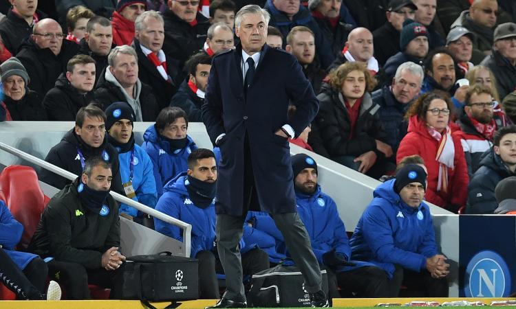 Napoli, ingiustizia a Liverpool: Ancelotti non meritava di uscire dalla Champions!