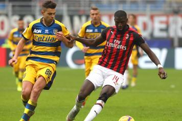 Bakayoko Milan concentrato Grassi Parma