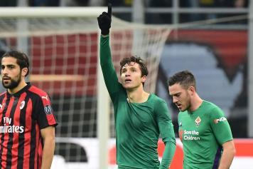 Chiesa Fiorentina esultanza dito Rodriguez Milan