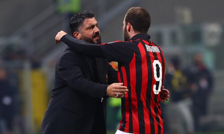 Gattuso: 'Higuain? L'agente parla con Leonardo. Spero resti il più a lungo possibile, altrimenti vedremo'