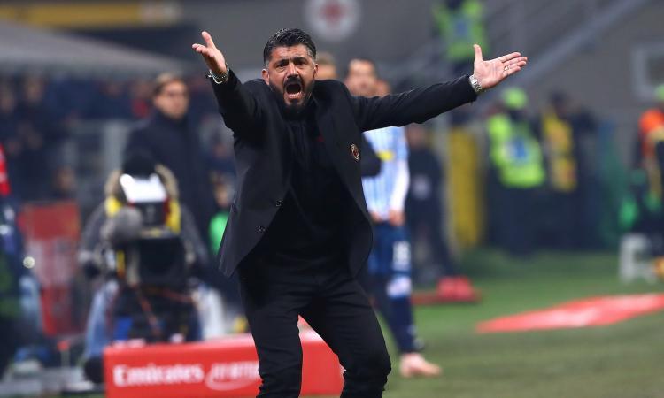 Milan, Gattuso non parla in conferenza prima della Samp
