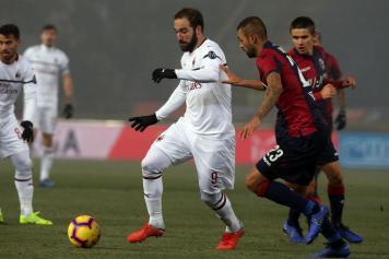 Higuain Milan Danilo Bologna