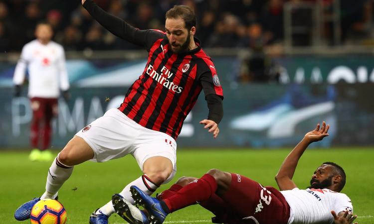 Milan, il ritorno di Higuain non basta: finisce 0-0 a San Siro contro il Torino