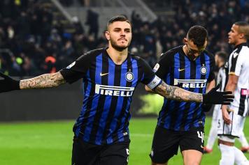 Icardi esultanza braccia larghe Inter