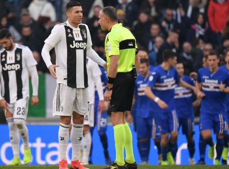 La Juve ringrazia Ronaldo e anche il Var. Battuta una bella Sampdoria