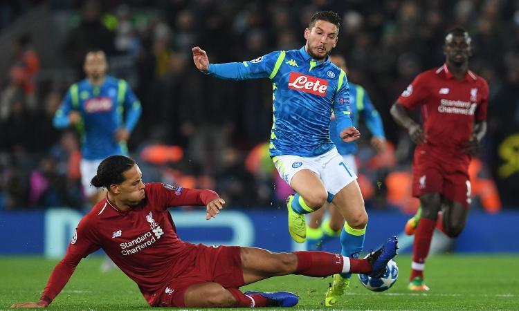 Champions, la MOVIOLA di Napoli e Inter: van Dijk da rosso, protesta Icardi