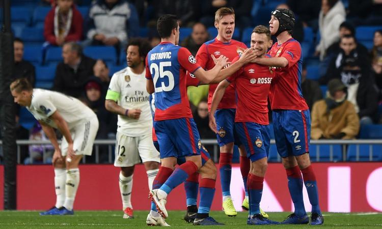Champions: Real umiliato, 0-3 dal Cska. Il Bayern soffre ma chiude primo, perde lo United. Lione agli ottavi