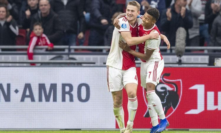 L'Ajax prepara l'asta per de Ligt: il Napoli ci pensa, quella visita alla Juve...