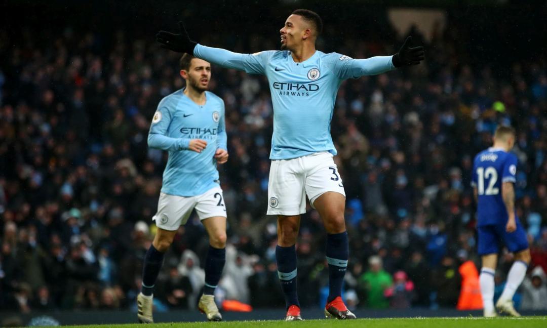 Il City rialza la testa: vittoria nel segno di Gabriel Jesus