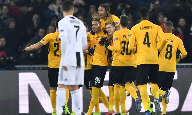 Figuraccia Juve, perde 2-1 con lo Young Boys, ma passa agli ottavi come prima