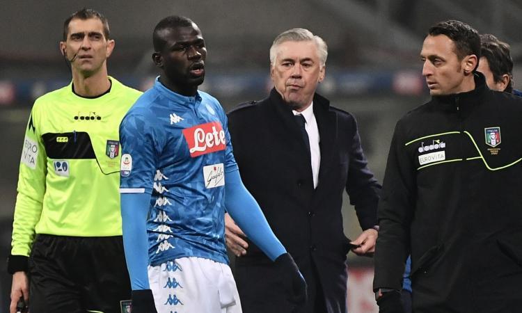 Napoli, Ancelotti 'avvisa' De Laurentiis: 'Se parte Koulibaly non torno dal Canada'
