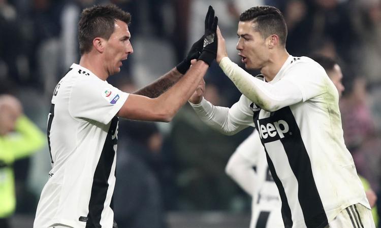 Can parla, Mandzukic e Ronaldo non trattengono le risate VIDEO
