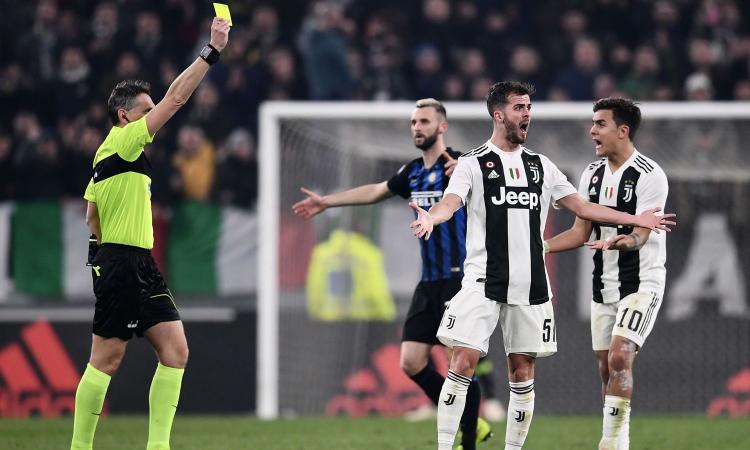 Juve-Inter, rivivi la MOVIOLA: tante ammonizioni e proteste, partita fisica
