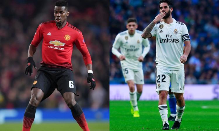 Juventus, ecco il piano per il 2019: Pogba e Isco arrivano a gennaio?