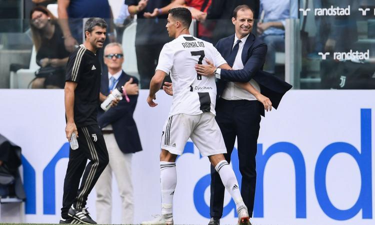 Allegri: 'Allenare Ronaldo è una gioia. Per la Champions servirà fortuna'