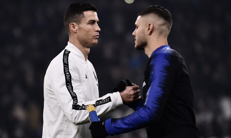 Ronaldo fa il mercato della Juve: decide lui se prendere Icardi o no