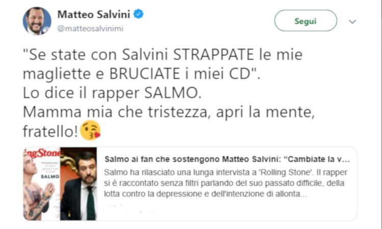 Salmo contro Salvini: 'Lui non ci sarà'. Come Gattuso, Pamela Anderson e...