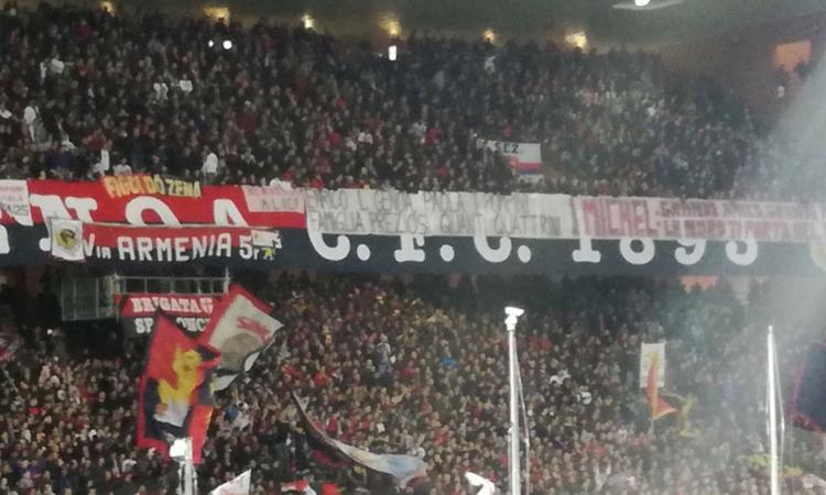 Genoa, il tifo si divide nella protesta anti-Preziosi
