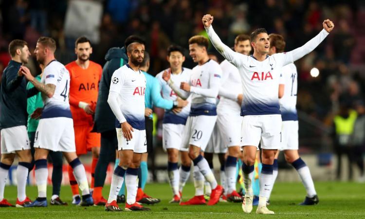 Champions: Barcellona-Tottenham 1-1. Il PSG vince a Belgrado ed è primo