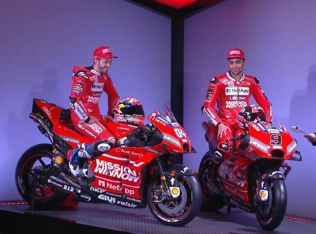 Presentata la nuova Ducati 2019 di Dovizioso e Petrucci! FOTOGALLERY