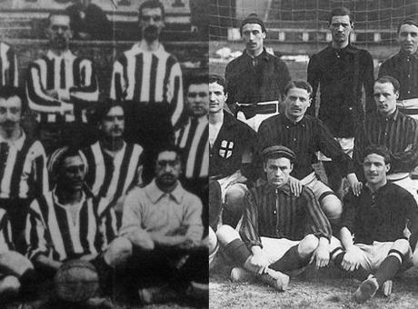 1910, vince la Juve, il Milan si arrabbia con l'arbitro e i tifosi lo inseguono!
