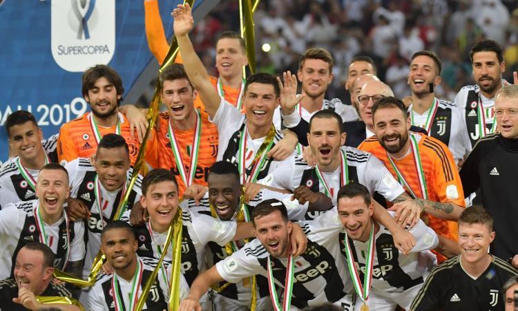 La Juve festeggia la Supercoppa con Mayweather FOTO