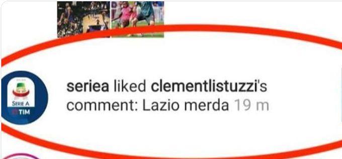 'Lazio m...', la Lega Serie A e il 'like' su Instagram: tifosi biancocelesti infuriati