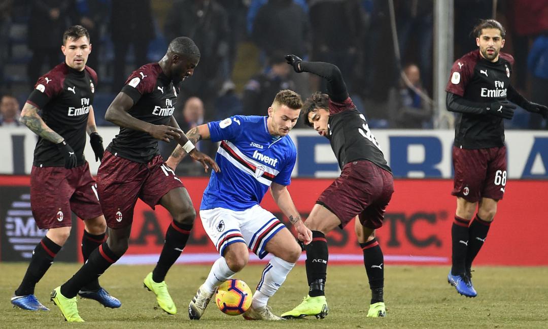 Samp-Milan fra gaffe di Cerqueti e troppe lodi al Milan