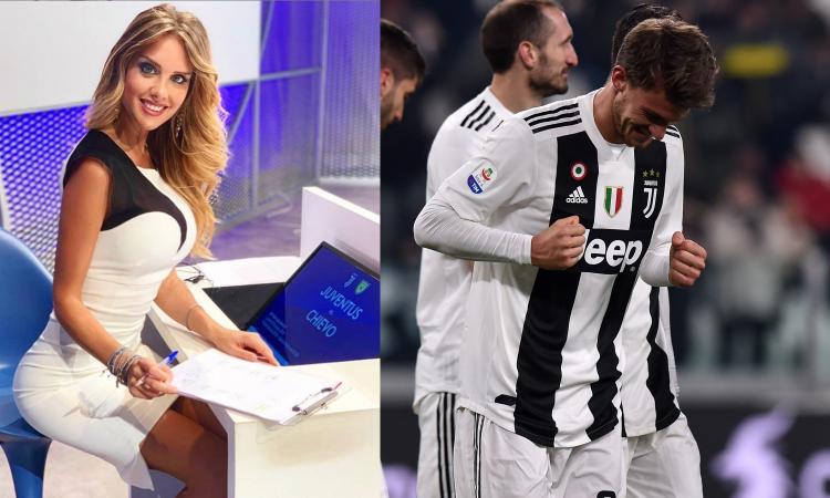 Juve, Rugani fa esultare in diretta Michela: 'Tre anni insieme!' VIDEO