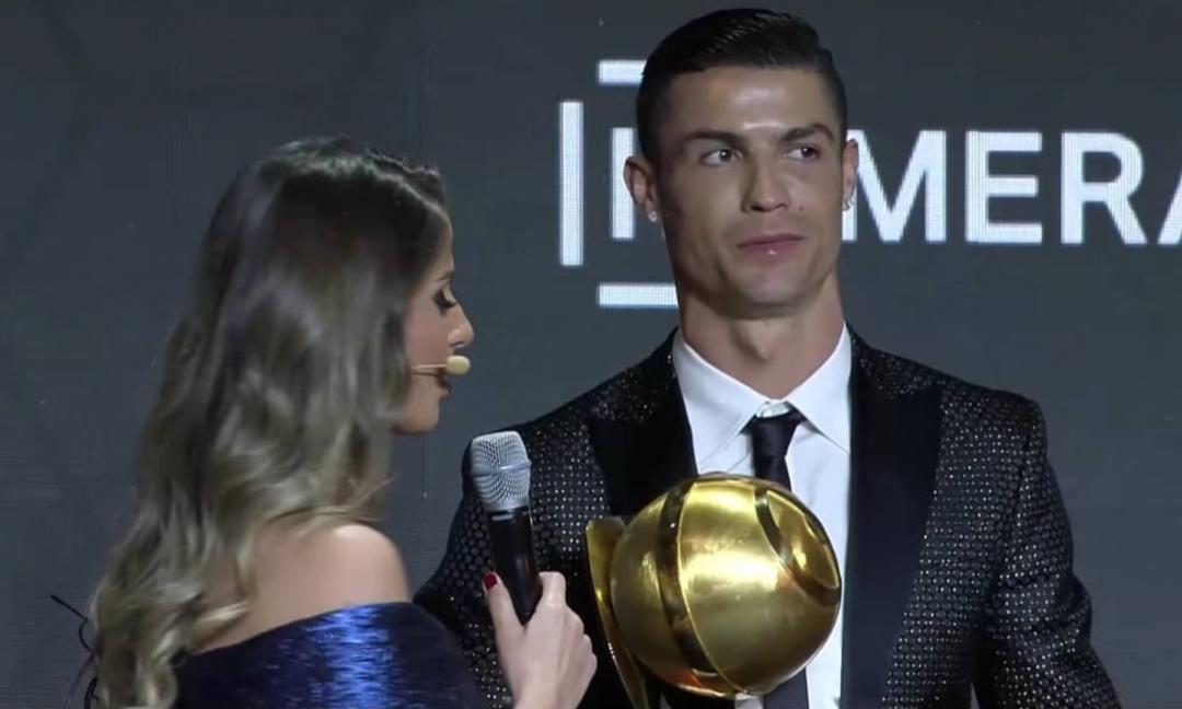 Ronaldo fa tripletta al Globe Soccer Awards