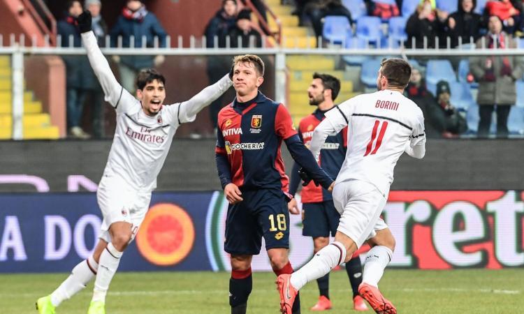 Il Milan senza Higuain sa solo vincere: 2-0 al Genoa con Borini-Suso, è quarto