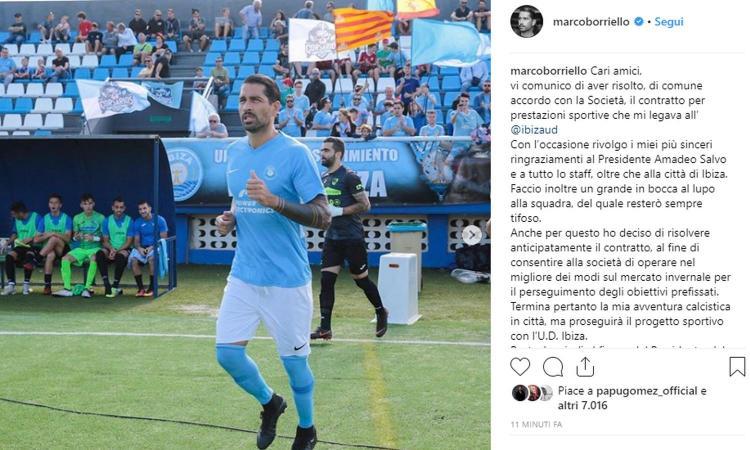 UFFICIALE, Borriello risolve il contratto con l'Ibiza
