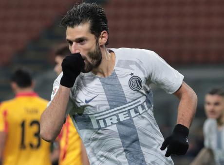 Inter-Benevento, le pagelle di CM: Candreva super. Dalbert, gol alla Roberto Carlos