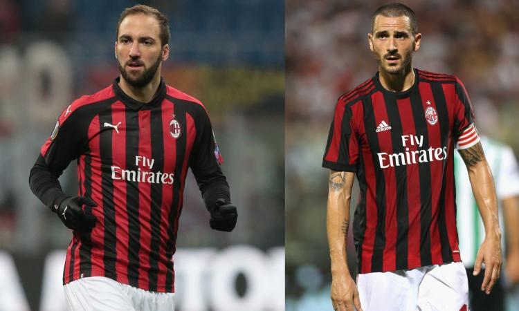 Higuain e Bonucci: Milan, pentito?
