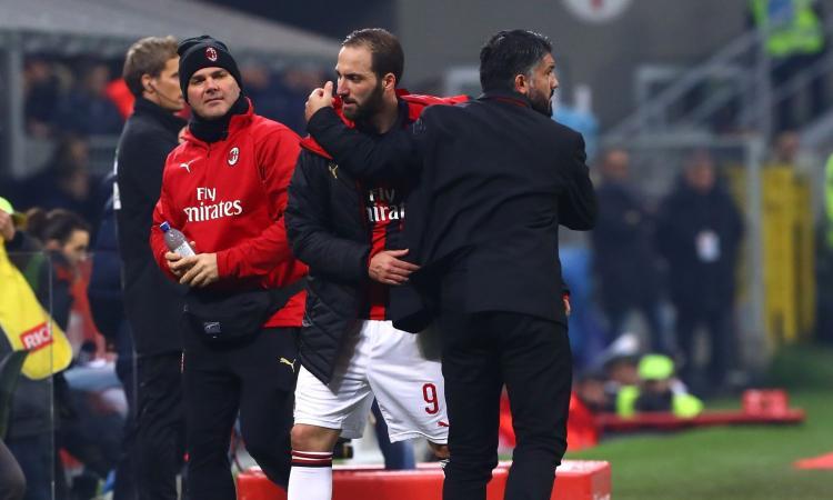 La furia di Gattuso contro Higuain. E quell'attacco a Bonucci...