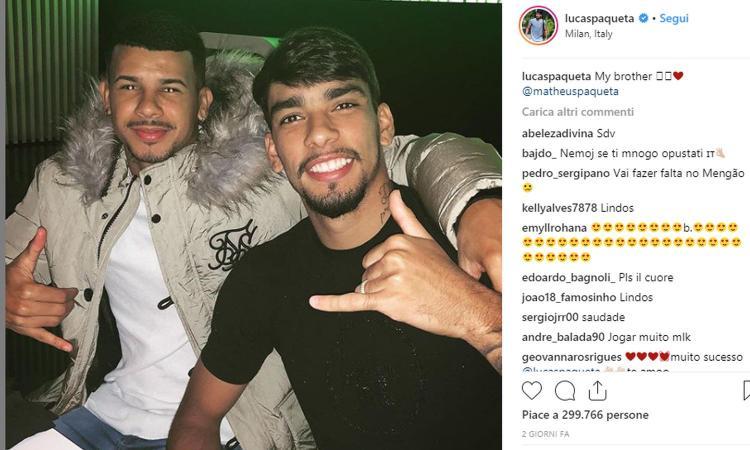 Matheus Paquetà: 'Mio fratello ha realizzato il sogno di giocare a San Siro'