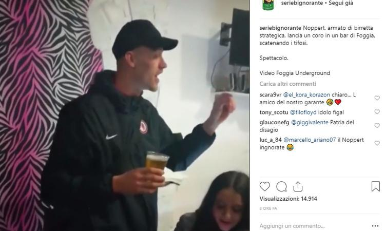 Foggia, Noppert sow: birra in un bar e coro coi tifosi VIDEO