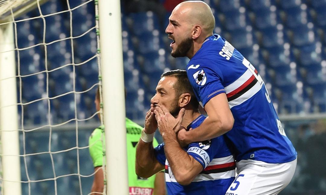 La Samp asfalta l'Udinese 4-0 ed è Quagliarella-show
