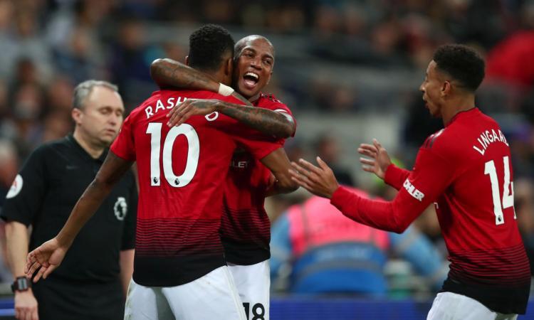 Rashford-gol, Totteham ko: 1-0 United