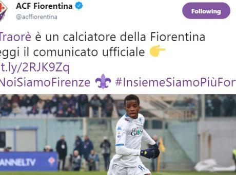Fiorentina, UFFICIALE: preso Traoré