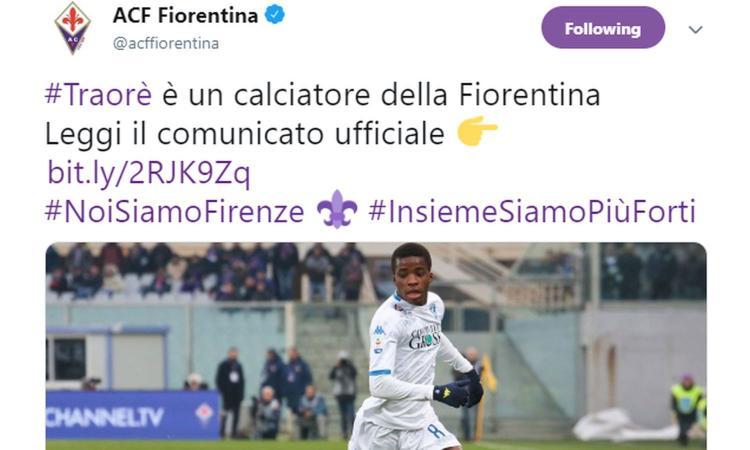Fiorentina, ag. Traoré: 'Ecco perché ha scelto Firenze'