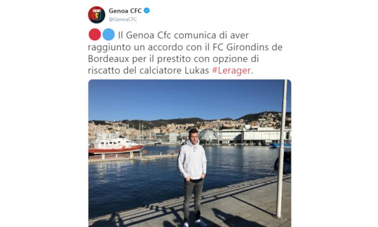 Genoa, a Bologna subito Lerager VIDEO