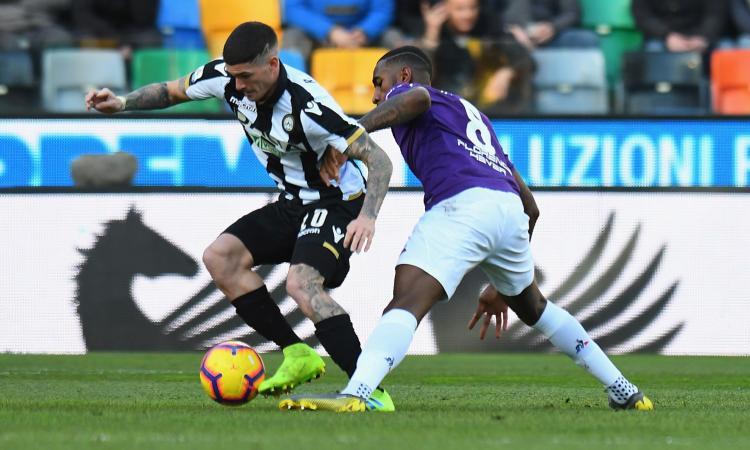 L'Udinese ruba l'idea alla Fiorentina. De Paul male, Pjaca altra chance persa